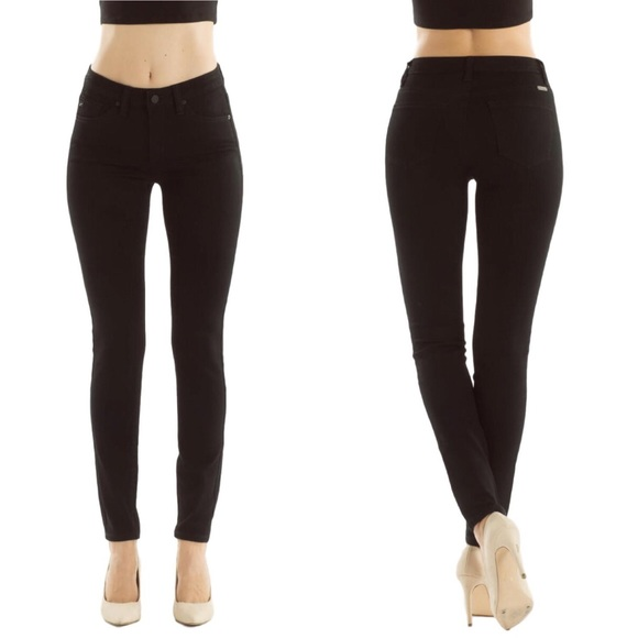 b69fe3f805 NWT Kan Can Elsa-Kassidy Black Skinny Jeans Mid